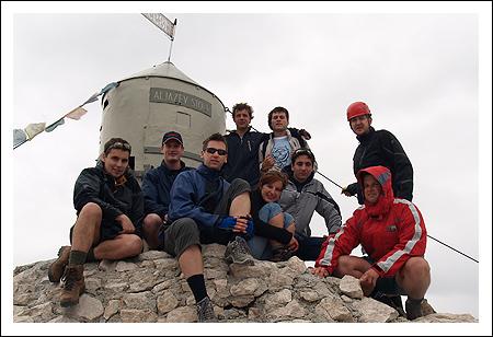 Aljažev stolp in osvojen vrh - 2864m